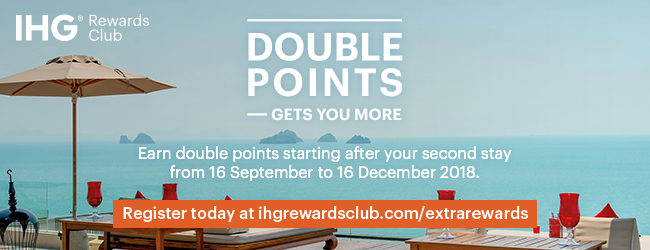 IHG Rewards Club DOUBLE POINTS - GETS YOU MORE